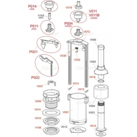 A2000 Сливной механизм со стоп-кнопкой