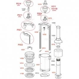 A05 Сливной механизм с удлиненной стоп-кнопкой