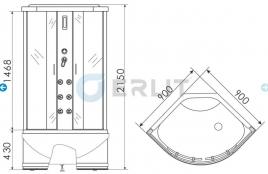Душевая кабина ERLIT ER 5709TP-C24