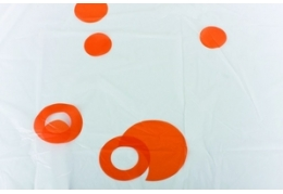 Штора для ванной (круги оранжевые)