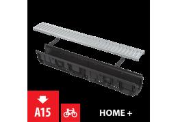 AVZ102-R102 Дренажный канал 100 мм, с интегрированной пластиковой рамой и оцинкованной решеткой C-образного профиля
