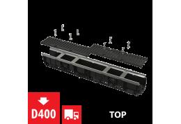 AVZ103-R201 Дренажный канал 100 мм с оцинкованной рамой и чугунной решеткой