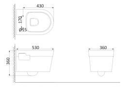 Унитаз подвесной (с креплениями) PR1100