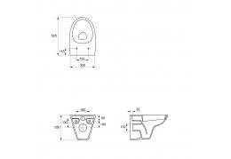 PARVA подвесной унитаз с дюропластовым сиденьем