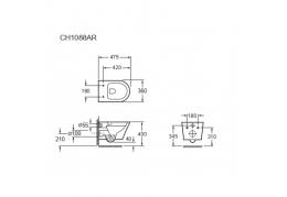 Унитаз подвесной Grossman GR-P3011