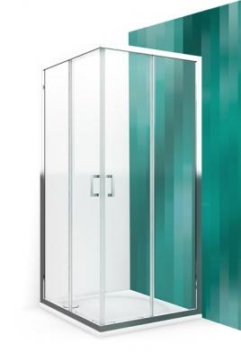 Душевой уголок 900*900 квадратный с двумя раздвижными дверями