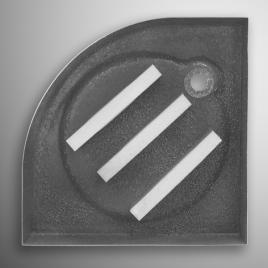 Душевой поддон 900*900 самонесущий радиусный, акриловый