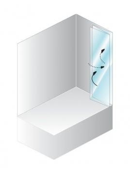 Душевая шторка для ванн Quat TP 140