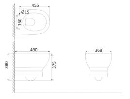 Унитаз подвесной (с креплениями) BR1100R