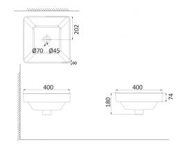 Накладная раковина-чаша, тонкостенная PU3020