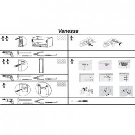"""Тумба Botticelli """"VANESSA"""" с умывальником """"Vanessa-900"""""""
