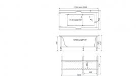 Акриловая ванна АЛЕКСАНДРИЯ-170