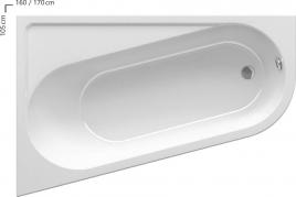 Ванна Chrome ассиметричная
