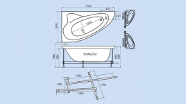 Акриловая ванна Тритон ИЗАБЕЛЬ [правая] 170