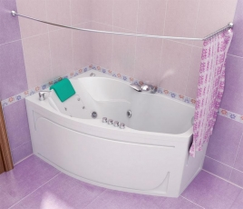 Акриловая ванна Тритон ЛАЙМА [правая] 160