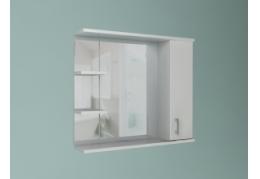 """Зеркало """"Стиль"""" 1 дверь + зеркало, 2 полки"""