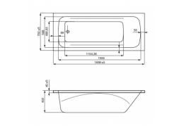 Ванна акрил прямоугольная Clavis 170