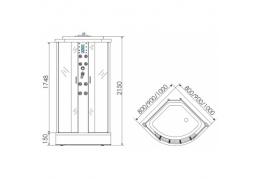 Душевая кабина ERLIT ER 4510P-C3