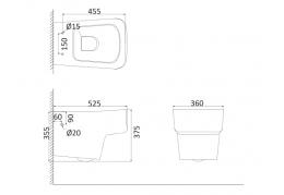 Унитаз подвесной (с креплениями) LY1100