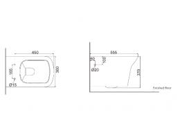 Унитаз пристенный (с креплениями) NA1100