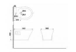 Биде подвесное (с креплениями) PA2100