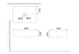 Накладная раковина-чаша, тонкостенная PU3500