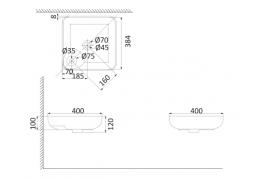 Накладная раковина-чаша, тонкостенная PU3700