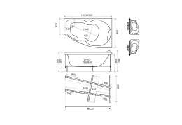 Акриловая ванна Тритон БРИЗ [левая] 150