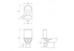 PARVA унитаз-компакт с сиденьем дюропласт