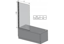 Штора для ванны CVS1
