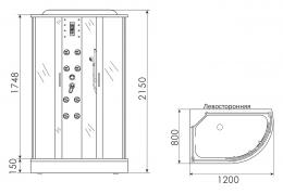 Душевая кабина ERLIT™ ER 4512PL-C4