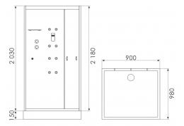 Душевая кабина ERLIT MIA90-W2