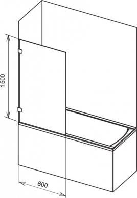 Штора для ванн Ravak BVS1