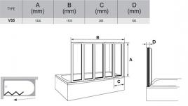 Штора для ванны VS5