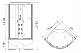 Душевая кабина ERLIT 5509TP-S2