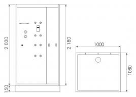 Душевая кабина ERLIT ER MIA100-W1